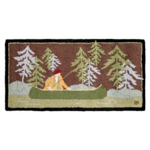 Chandler 4 Corners Hooked Wool Accent Rug - 2x4' in Fishing The Battenkill - Closeouts
