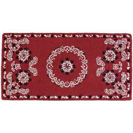 Chandler 4 Corners Hooked Wool Accent Rug - 2x4' in Bandanda Red - Closeouts