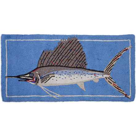 Chandler 4 Corners Hooked Wool Accent Rug - 2x4' in Trophy Sailfish - Closeouts