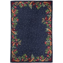 Chandler 4 Corners Hooked Wool Area Rug - 6x9' in Vegetable - Closeouts