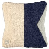 "Chandler 4 Corners Hooked Wool Decorative Pillow - 14"", Square"