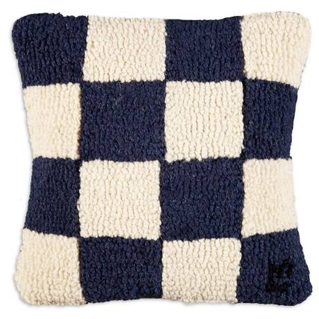 "Chandler 4 Corners Hooked Wool Decorative Pillow - 14"", Square in N Nautical Flag"