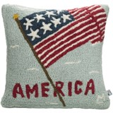 Chandler 4 Corners Hooked Wool Pillow - 18x18""