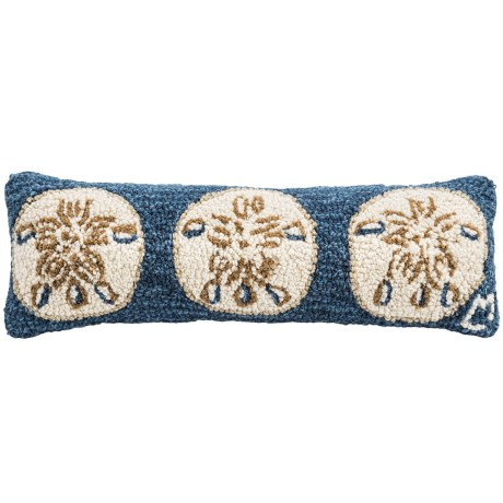 """Chandler 4 Corners Hooked Wool Pillow - 8x24"""" in 3 Sand Dollars"""