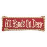 "Chandler 4 Corners Hooked Wool Pillow - 8x24"""