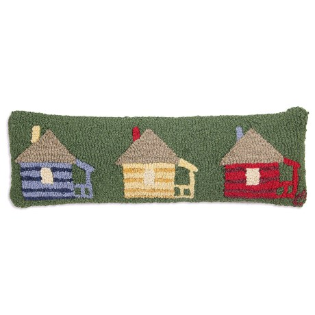 "Chandler 4 Corners Hooked Wool Pillow - 8x24"" in Cabins For Rent"