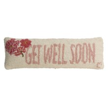 "Chandler 4 Corners Hooked Wool Pillow - 8x24"" in Get Well Soon - Closeouts"