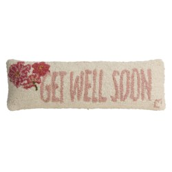 "Chandler 4 Corners Hooked Wool Pillow - 8x24"" in Get Well Soon"