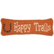 "Chandler 4 Corners Hooked Wool Pillow - 8x24"" in Happy Trails - Closeouts"
