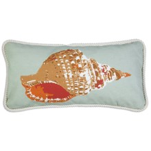"""Chandler 4 Corners Sailcloth Canvas Decor Pillow - 12x24"""" in Mollusk - 2nds"""