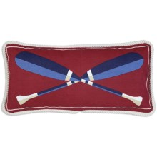 "Chandler 4 Corners Sailcloth Canvas Decor Pillow - 12x24"" in Paddles - 2nds"