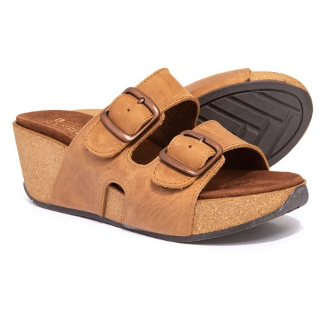 Image of Chandler Wedge Sandals - Leather (For Women)