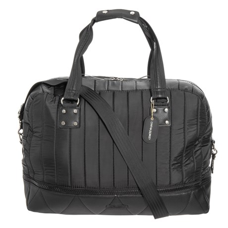 Image of Channel Quilt Expandable Duffel Bag (For Women)