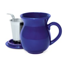 Chantal 15 fl.oz. Tea Mug - Stainless Steel Infuser in Indigo Blue - Closeouts