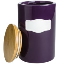 Chantal Canister with Bamboo Lid - Medium in Purple - Closeouts