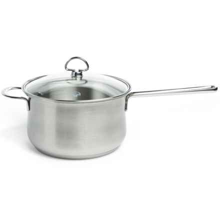 Chantal Stainless Steel Saucepan with Lid - 4 qt. in Satin Finish - Closeouts