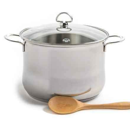 Chantal Stainless Steel Stockpot with Lid - 8 qt. in Polished Finish - Closeouts