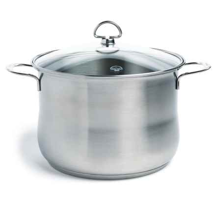 Chantal Stainless Steel Stockpot with Lid - 8 qt. in Satin Finish - Closeouts