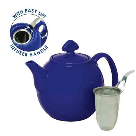 Chantal Tea for Four Ceramic Teapot - 48 fl.oz. in Indigo Blue - Closeouts