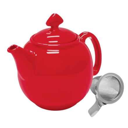 Chantal Tea for Four Ceramic Teapot - 48 fl.oz. in True Red - Closeouts
