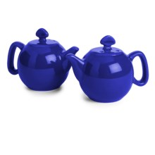 Chantal Teapot Salt and Pepper Shaker Set - Ceramic, Set of 2 in Blue - Closeouts