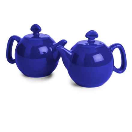 Chantal Teapot Salt and Pepper Shaker Set - Ceramic, Set of 2 in Blue - Closeouts