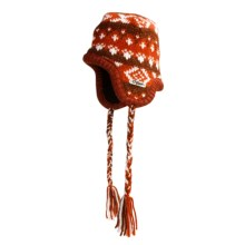 Chaos Beanie Hat with Ear Flaps (For Men and Women) in Madder Brown - Closeouts