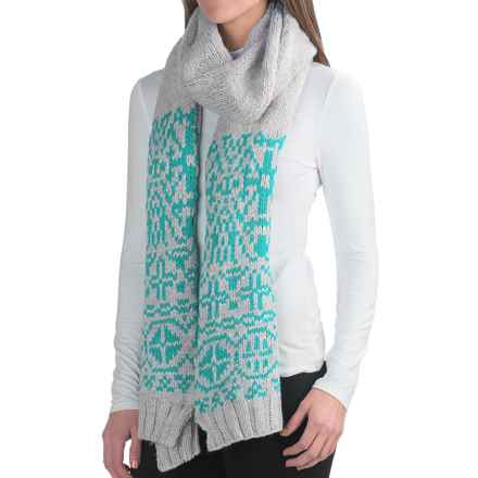 Chaos Beryl Knit Scarf (For Women) in Cyan - Closeouts