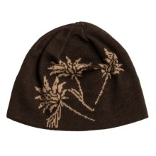 Chaos Bloom Beanie Hat (For Women) in Beige - Closeouts