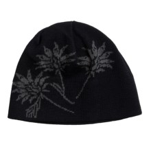 Chaos Bloom Beanie Hat (For Women) in Black - Closeouts