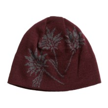 Chaos Bloom Beanie Hat (For Women) in Mahagony - Closeouts