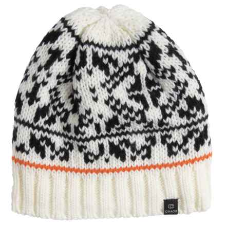 Chaos Boost Knit Beanie (For Women) in White - Closeouts