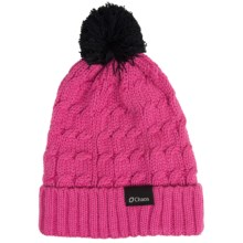 Chaos Cable-Knit Solid Hat (For Big Kids) in Fuschia - Closeouts