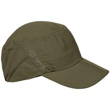 Chaos Cadet Sun Cap - UPF 50+ (For Men and Women) in Olive - Closeouts
