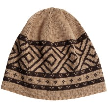 Chaos Calvin Beanie Hat - Wool Blend (For Men) in Beige/Sable Brown - Closeouts
