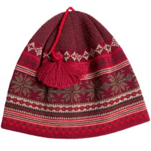 Chaos Casey Beanie Hat - Wool Blend (For Men and Women) in Real Red/Maple/Sable - Closeouts