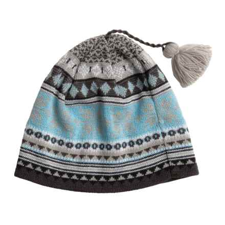 Chaos Casey Beanie - Wool Blend (For Men and Women) in Clearwater/White/Burlap/Black - Closeouts