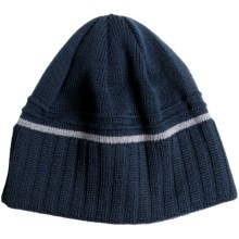 Chaos Cheque Beanie Hat - Wool Blend (For Men) in Lunar/Grey - Closeouts