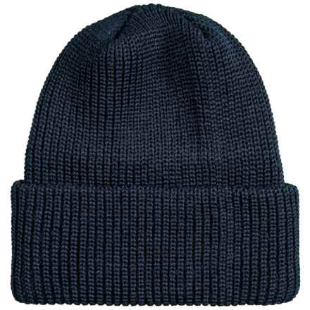 Chaos Cuffed Beanie - Wool (For Men) in Navy - Closeouts