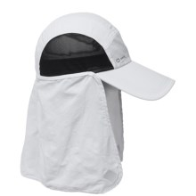 Chaos Dessert Sun Cap - UPF 50+ (For Men and Women) in White - Closeouts