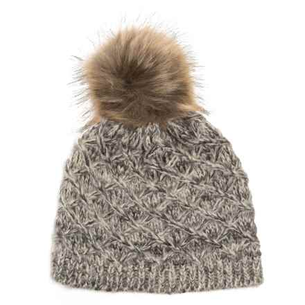 Chaos Diamond Knit Beanie (For Women) in Grey - Closeouts