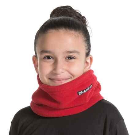 Chaos Durante Fleece Neck Gaiter (For Little and Big Kids) in Red - Closeouts