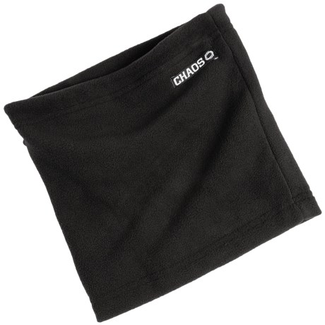 Chaos Durante Fleece Neck Gaiter (For Men and Women) in Black