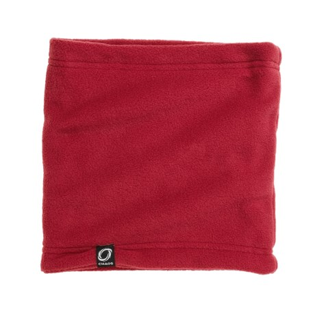 Chaos Durante Fleece Neck Gaiter (For Men and Women) in Red
