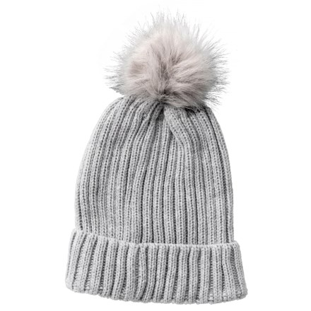 7d869c46d57 Chaos Faux-Fur Pom Beanie (For Women) in Medium Heather Grey - Closeouts