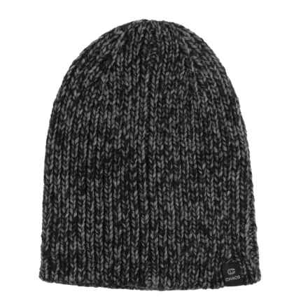 Chaos Frequency Knit Beanie (For Men and Women) in Black - Closeouts