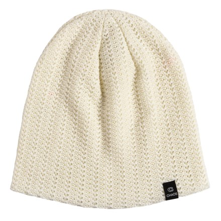1e9885f1677 Chaos Graceful Double-Layered Acrylic Beanie (For Women) in White -  Closeouts