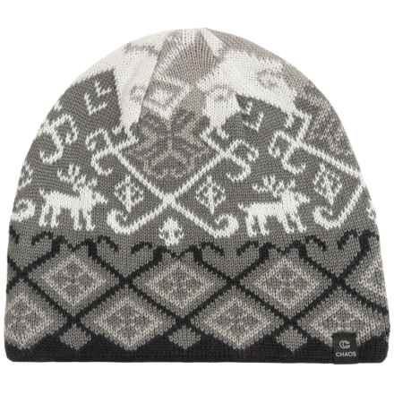 Chaos Hapii Knit Beanie (For Women) in Black / Grey - Closeouts