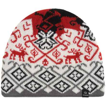 Chaos Hapii Knit Beanie (For Women) in Lipstick - Closeouts