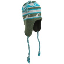 Chaos Helmet Ear Flap Hat - Wool, Fleece Lining (For Men) in Olive - Closeouts